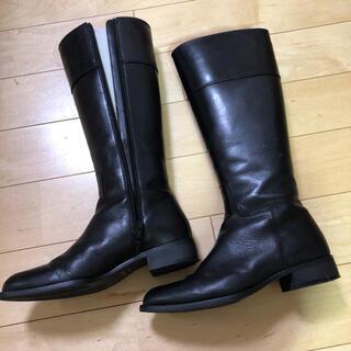 BARCLAY - バークレー ロングブーツ 黒 本革 23cm