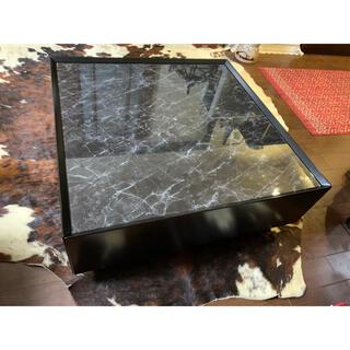 高級国産 センターテーブル ローテーブル 80㎝ × 80㎝ 大理石調(ローテーブル)