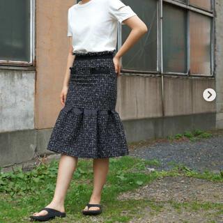 サカイ(sacai)の送料無料 未使用 sacai summer tweed skirt サイズ1(ひざ丈スカート)