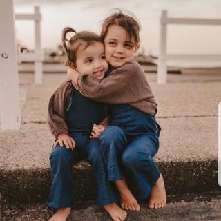 キャラメルベビー&チャイルド(Caramel baby&child )のtwincollective_kids 裾フレアサロペット オーバーオール(パンツ/スパッツ)