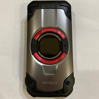 キョウセラ(京セラ)のau TORQUE X01 KYF33 シルバー SIMロック解除済(携帯電話本体)