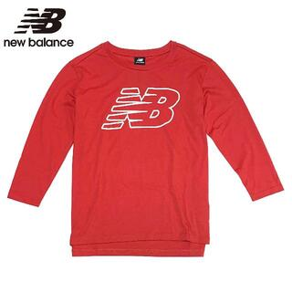 ニューバランス(New Balance)の新品 XLサイズ ニューバランス レディース 長袖Tシャツ ピンク トップス(Tシャツ(長袖/七分))