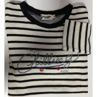 ニットプランナー(KP)の【KP.Boy】ボーダー長袖Tシャツ*120○ネイビー×きなり 記名なし(Tシャツ/カットソー)