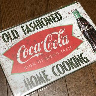 コカコーラ(コカ・コーラ)のコカコーラ OLD FASHIONED ブリキ看板(その他)
