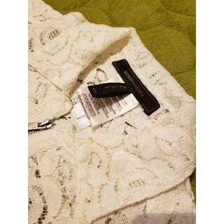 ビーシービージーマックスアズリア(BCBGMAXAZRIA)のBcbgmaxazria レースシャツ 白 size xxs(シャツ/ブラウス(長袖/七分))