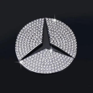 エーエムジーザダーケストニグ(AMG-THE DARKEST NIG)のメルセデスベンツ ステアリングステッカー ラインストーン 新品(車内アクセサリ)
