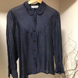 サンローラン(Saint Laurent)のイブサンローラン  チェックシャツ(シャツ/ブラウス(長袖/七分))