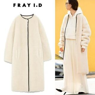 フレイアイディー(FRAY I.D)のFRAY♡ノーカラー エコファー コート(毛皮/ファーコート)