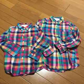 ゴートゥーハリウッド(GO TO HOLLYWOOD)のゴートゥーハリウッド チェックシャツ  120(Tシャツ/カットソー)
