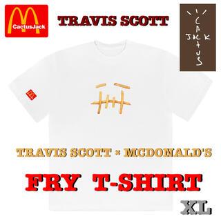 シュプリーム(Supreme)の希少‼️ TRAVIS SCOTT × MCDONALD'S Tシャツ 白 XL(Tシャツ/カットソー(半袖/袖なし))