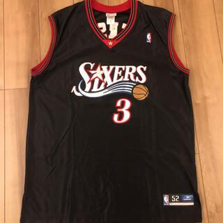 リーボック(Reebok)の希少 NBA アイバーソン #3 リーボック製 ビッグサイズ 刺繍(バスケットボール)