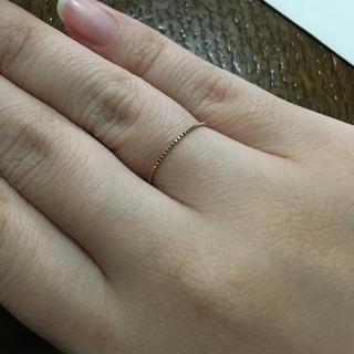 エテ(ete)のete♡K10♡チェーンリング(リング(指輪))