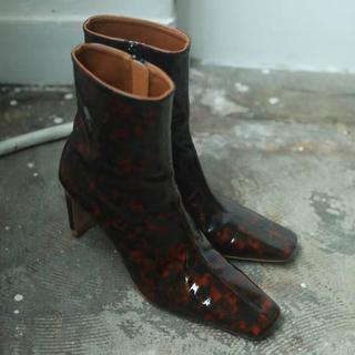 トゥデイフル(TODAYFUL)のTODAYFUL / トゥデイフル Square Ankle Boots 37(ブーツ)