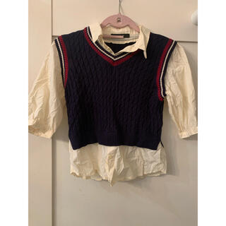 ダブルクローゼット(w closet)のwcloset トップス(シャツ/ブラウス(半袖/袖なし))