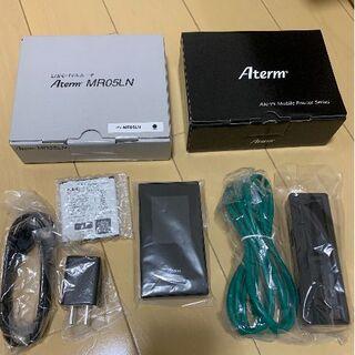 エヌイーシー(NEC)のSIMフリー NEC Aterm MR05LN&クレードル セット(PC周辺機器)