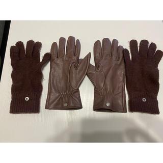 コーチ(COACH)のCOACH MEN'S GOAT LEATHER & WOOL  コーチ手袋(手袋)