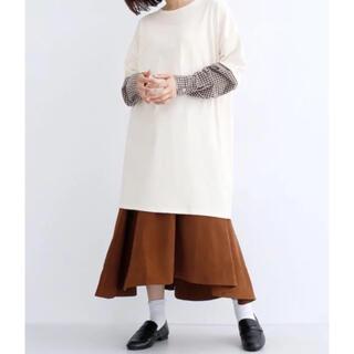メルロー(merlot)のメルロー merlot チェック ドッキングシャツ ロングTシャツ 新品 タグ付(Tシャツ(長袖/七分))
