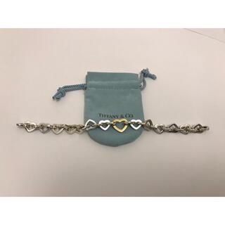 ティファニー(Tiffany & Co.)のティファニー ハート リンク コンビ AC5(ブレスレット/バングル)