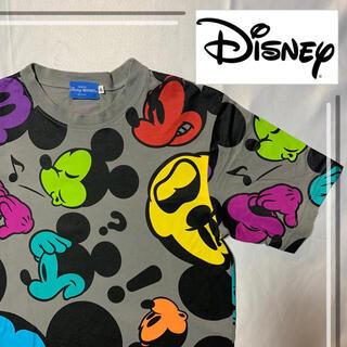 ディズニー(Disney)のディズニー Tシャツ ミッキー デカロゴ 総柄(Tシャツ/カットソー(半袖/袖なし))