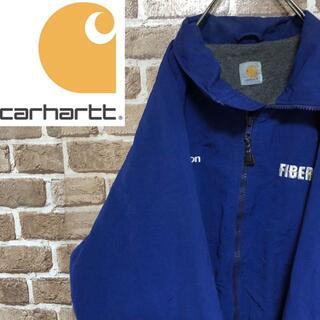 カーハート(carhartt)の♡カーハート♡ナイロンジャケット 裏フリース 企業モノ刺繍 青 ワーク(ナイロンジャケット)