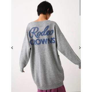 ロデオクラウンズ(RODEO CROWNS)のRODEOCROWNSWIDEBOWLニットデニムポケットVネックワンピース(ひざ丈ワンピース)