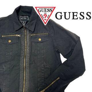 ゲス(GUESS)のGUESS ゲス トラッカージャケット ブラック M JEANS ゲスジーンズ (ブルゾン)