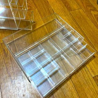 ムジルシリョウヒン(MUJI (無印良品))の無印良品クリアケース メガネ用 小物用 2点セット(小物入れ)