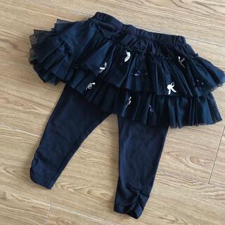 トッカ(TOCCA)のTOCCA リボン付きブラックスカッツ スカート スパッツ 90cm(パンツ/スパッツ)