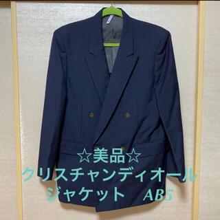 Christian Dior - ☆美品☆クリスチャンディオール メンズブレザー ネイビー AB5
