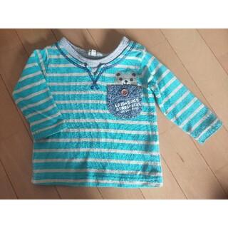 サンカンシオン(3can4on)のTシャツ ロンT 80 ボーダー くまさん サンカンシオン ワールド(Tシャツ)