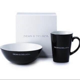 ディーンアンドデルーカ(DEAN & DELUCA)の3点セット‼️ DEAN & DELUCA シリアルボウル&ラテマグ+スプーン黒(食器)