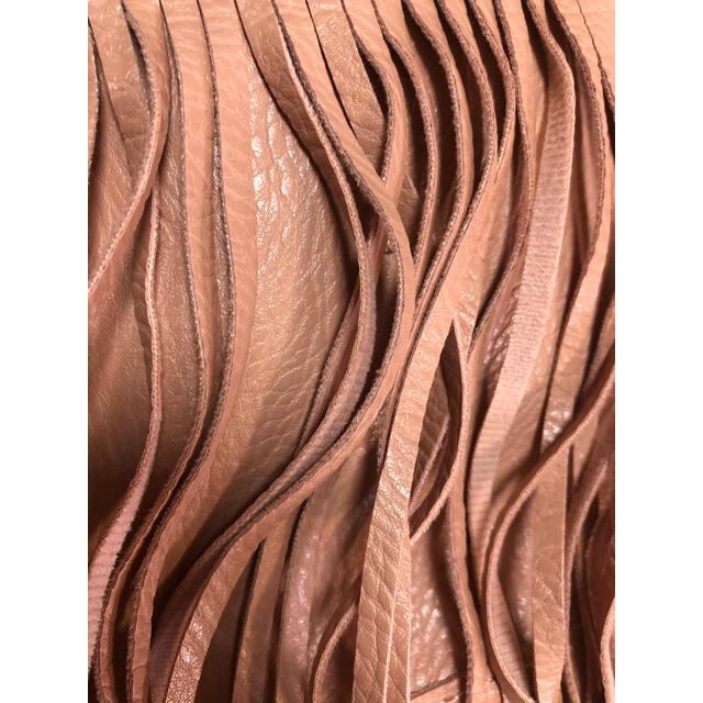 DURAS(デュラス)のDURAS フリンジバッグ ピンク レディースのバッグ(ショルダーバッグ)の商品写真