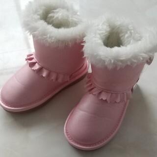 ベベ(BeBe)の★新品★ムートンブーツ★17★甲低め★小さめ★ピンク(ブーツ)