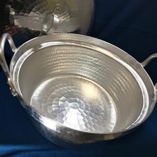 ムジルシリョウヒン(MUJI (無印良品))の有次 段付き鍋  両手鍋 アルミ鍋(鍋/フライパン)