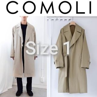 コモリ(COMOLI)の新品■20AW COMOLI コットンギャバ タイロッケンコート 1 ベージュ(トレンチコート)