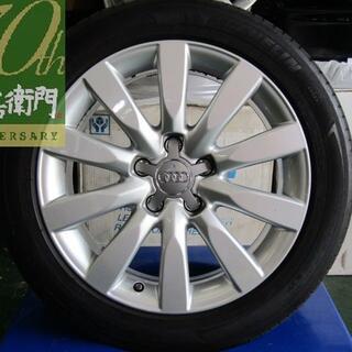 アウディ(AUDI)のアウディ 8K系 A4後期純正 4本セット(タイヤ・ホイールセット)