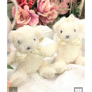 メゾンドフルール(Maison de FLEUR)のメゾンドフルール ウエディングフルールベア イニシャル 結婚式 前撮り 卒花(ぬいぐるみ)