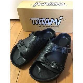タタミ(TATAMI)のTATAMI Pilica タタミ ピリツァ サンダル 40 26cmブラック黒(サンダル)
