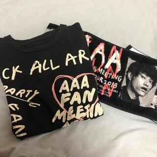 トリプルエー(AAA)のAAAファンミTシャツ タオル(ミュージシャン)