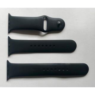 アップルウォッチ(Apple Watch)の純正品 スポーツバンド ブラック for Apple Watch 42,44mm(ラバーベルト)