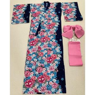 シマムラ(しまむら)の美品 レディース浴衣 ピンク 花柄(浴衣)
