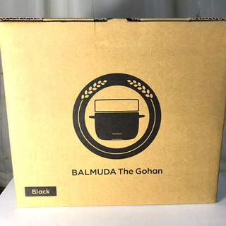 BALMUDA - BALMUDA The Gohan K03A-BK 電気炊飯器 黒 送料無料