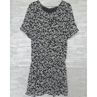 アベイル(Avail)のCLUDIA-BIT 大きいサイズ ブラウス ワンピース 花柄(シャツ/ブラウス(半袖/袖なし))
