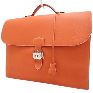 エルメス(Hermes)のエルメス サックアデペッシュ38 トゴ オレンジ橙 40800059627(ビジネスバッグ)