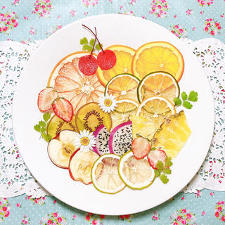 押しフルーツ*お得なフルーツ盛り合わせ(ドライフラワー)