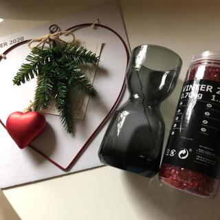 イケア(IKEA)のIKEA 花瓶(水栽培にも) +ガラスチップ+飾り(花瓶)