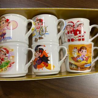 フジヤ(不二家)のペコちゃんマグカップ6個セット(グラス/カップ)
