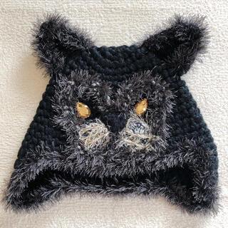 アナスイ(ANNA SUI)のアナスイ クロヒョウ ニット帽(ニット帽/ビーニー)