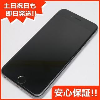 アイフォーン(iPhone)の美品 DoCoMo iPhone6S 128GB スペースグレイ (スマートフォン本体)