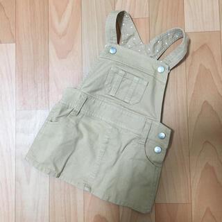 ベベ(BeBe)のスラップスリップ ベベ  サロペット デニム ジャンパースカート 80(スカート)